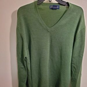 Brooks Brothets Forrest Green Merino Wool Sweater